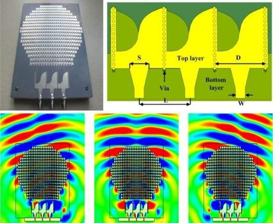 Protótipo da metassuperfície, que funciona da mesma forma que uma antena de formato esférico. [Imagem: Xiang Wan et al./10.1063/1.4870809]